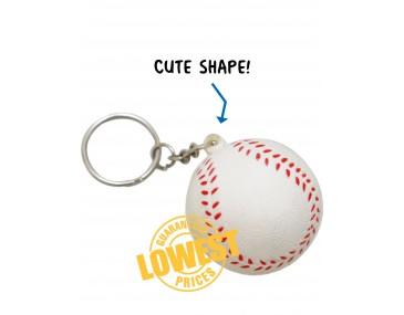 Branded Baseball Key Rings