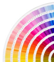 Full colour pantone chart
